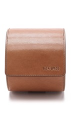 Jack Spade Mitchell Leather Tie Canister Saddle Navy