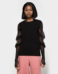 J.W.Anderson Textured Sweater Black