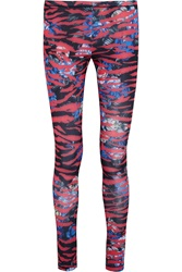 Mcq By Alexander Mcqueen Printed Stretch Jersey Leggings Pink