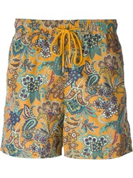 Etro Paisley Print Swim Shorts Multicolour