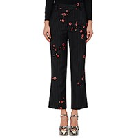 Marc Jacobs Women's Pinstriped Bowie Crop Trousers Black Red No Color Black Red No Color