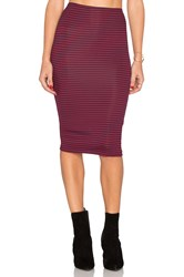 Lisakai Striped Pencil Skirt Red