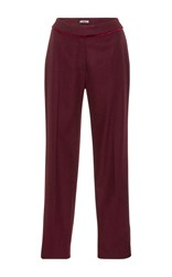 Cacharel Wool Cropped Trousers Red