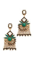 Elizabeth Cole Genevieve Earrings Golden Crystal