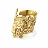 Chupi Stronger Than You Think Lace Ring In Gold