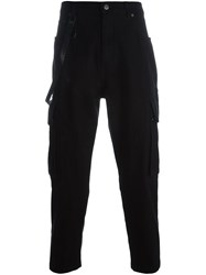 Helmut Lang Twill Cargo Trousers Black