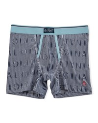 Penguin Original Striped Jersey Boxers Navy Teal