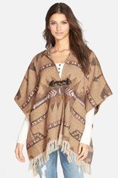Jolt Hooded Poncho Juniors Beige