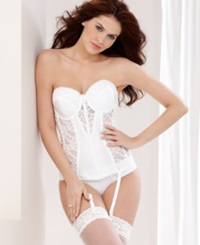 Va Bien Full Figure Strapless Lacy Torsolette 523 White