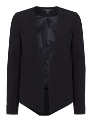 Therapy Tailored Drop Front Jacket Black