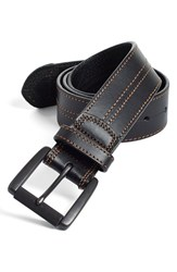 Men's Big And Tall Johnston And Murphy Leather Belt Black Brown