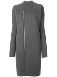 Rick Owens Lilies Zipped Oversized Coat Grey