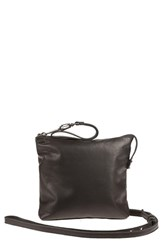 Will Leather Goods 'Petal' Leather Crossbody Bag Black