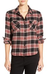 Women's Volcom 'Cozy Day' Crop Plaid Flannel Shirt