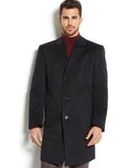 Kenneth Cole New York 100 Cashmere Raburn Slim Fit Overcoat Charcoal