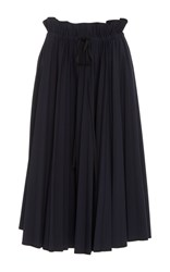 Dice Kayek Pleated Tea Length Skirt Navy
