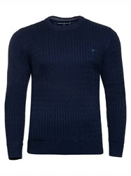 Raging Bull Men's Signature Cable Knit Navy