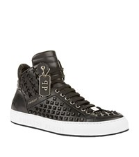 Philipp Plein Bobby D Studded High Top Sneakers Male Black