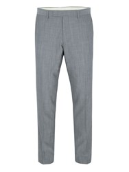 Paul Costelloe Modern Fit Grey Mohair Suit Trousers
