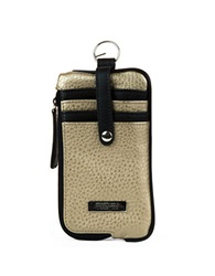 Kenneth Cole Reaction Must Haves Leather Snap Tab Card Case Putty