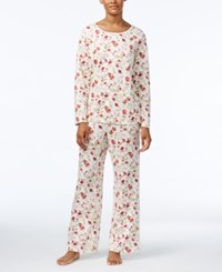 Charter Club Printed Knit Pajama Set Only At Macy's Holiday Floral