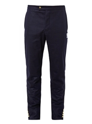 Moncler Gamme Bleu Wool Flannel Trousers