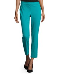 Natori Straight Leg Cropped Pants Peacock Blue