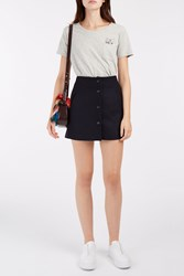 Paul And Joe Foudebasan Mini Skirt Navy
