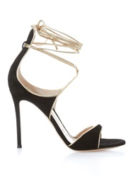 Gianvito Rossi Suede Ankle Wrap Stiletto Heels