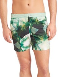 Monsieur Madone Tropical Print Relax Board Shorts