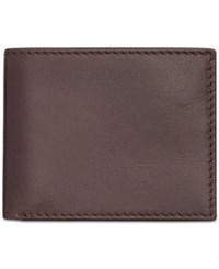 Tasso Elba Leather Multi Card Wallet Brown