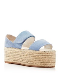Jeffrey Campbell Caneel Espadrille Platform Sandals Light Blue