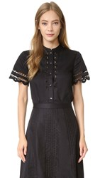 Temperley London Bellanca Shirt Black