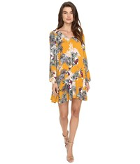 Brigitte Bailey Uma Long Sleeve Dress Marigold Women's Dress Yellow