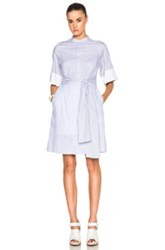 3.1 Phillip Lim Striped Button Down Dress In Blue Stripes