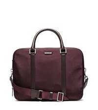 Michael Kors Windsor Large Nylon Briefcase Bordeaux
