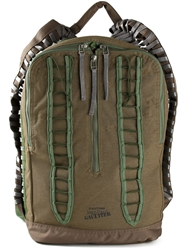 Jean Paul Gaultier Lace Up Detail Backpack Green