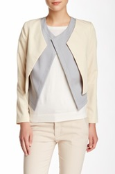 Magaschoni Luxe Double Layer Closure Jacket