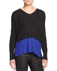 Design History Color Block Pointelle Sweater Onyx Combo