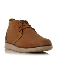 Barbour Bowlam Nubuck Lace Up Boots Tan