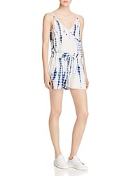 French Connection Holiday Tie Dye Romper Indigo Multi
