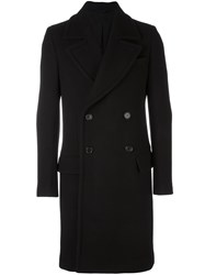 Ann Demeulemeester Double Breasted Mid Length Coat Black