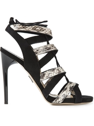 Paul Andrew Strappy Lace Up Sandals Black
