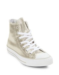 Converse Leather Hi Top Sneakers Pure Silver