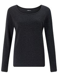 Crea Concept Long Sleeve Jersey Top Charcoal Grey Marl