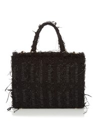 Simone Rocha Twist Clasp Tweed Bag Black