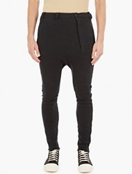 Thom Krom Black Cotton Jersey Trousers