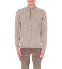 Corneliani Knitted Wool Blend Jumper Biege