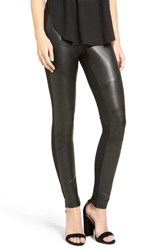 Women's Bp. Faux Leather Front Moto Leggings