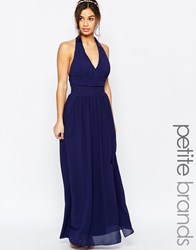 Tfnc Petite Wedding Halter Chiffon Maxi Dress Navy